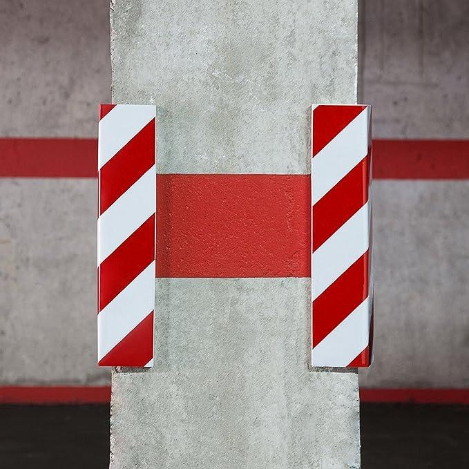 Ducomi Safe - paraspigoli pegatinas de goma para protección coche - Protectores de esquinas para uso de garaje, Box, Muros y columnas - Rayas De Colores De ...