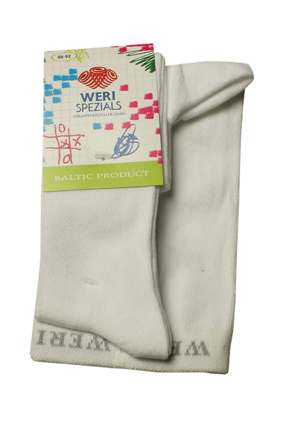 Weri Spezials Baby and Children Smooth Tights Grey Melange