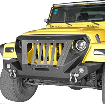 Grille Cover Fit Jeep Wrangler TJ 1997-2006 /& Unlimited Off-road Front Bumper