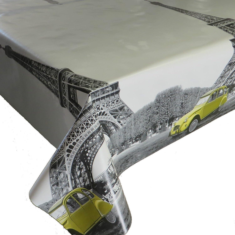 Skippys Eiffel Tower Monochrome Plata Gris Paris PVC - Mantel de ...