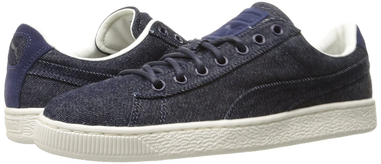 PUMA Basket Classic Denim Fashion Sneaker B01LY04I16 5 M US|Twilight Blue-whisper
