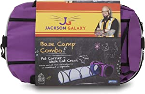 Petmate Jackson Galaxy Base Camp Carrier with Mesh Tunnel