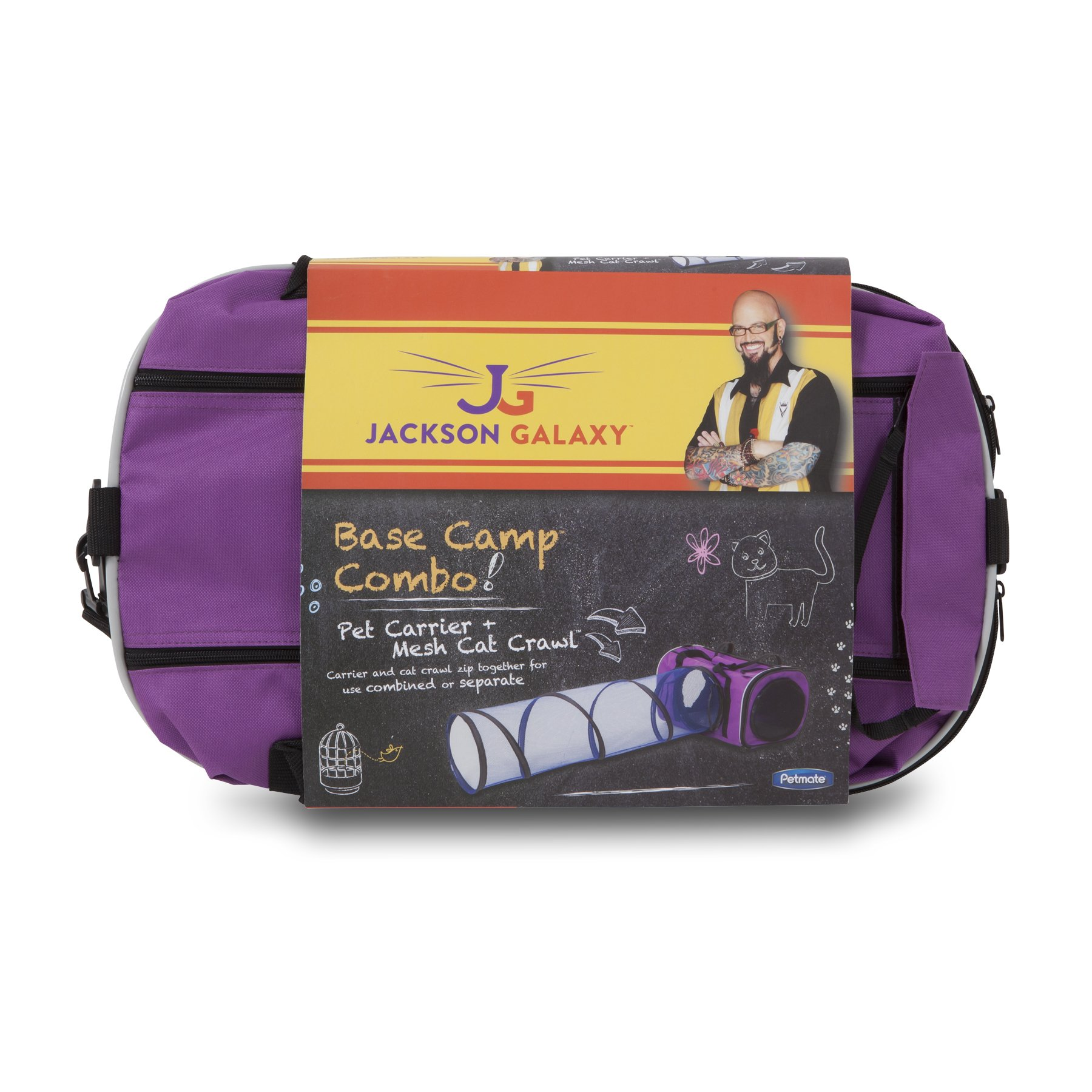 Petmate Jackson Galaxy Base Camp Carrier with Mesh Tunnel by Petmate