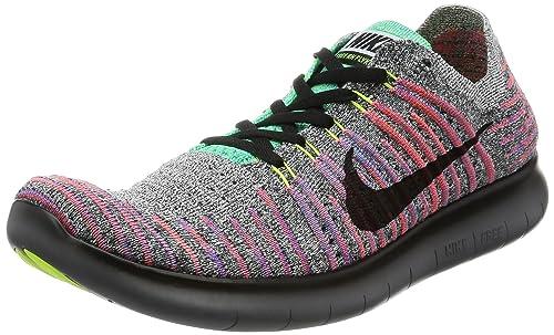 new product 8d0bb 2593a Nike Mens Free RN Flyknit Running Shoe WHITE/BLACK TOTAL CRIMSON BLUE  LAGOON 9.0 - hallo-rostrup.de