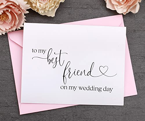 Bestie Card Black and Gold To My Best Friend On My Wedding Day Card Best Friend Card Best Friend Gift Bestie Gift Bridal Party Gifts