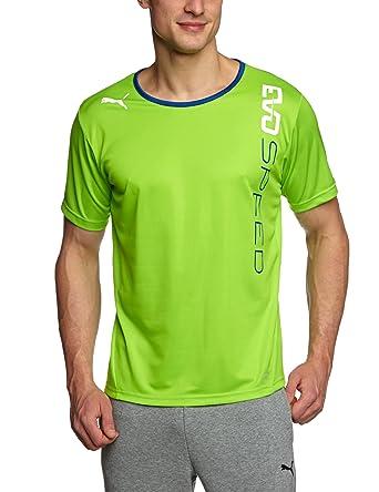 Puma - Camiseta de fútbol sala para hombre, tamaño L, color jazmín verde - monaco azul: Amazon.es: Ropa y accesorios