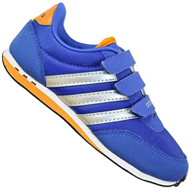 cheap for discount 700a1 e7fe1 adidas NEO Label V Racer CMF K Childrens Shoes Boys  Shoes Blue Silver  Orange - Blue, 30.5  Amazon.co.uk  Shoes   Bags
