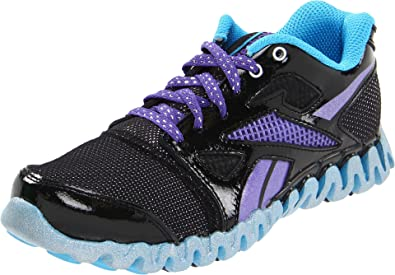 9dcacfa3b78 Reebok Zig Nano Fly 2 Youth Girls Black Mesh Running Shoes 1.5 UK ...