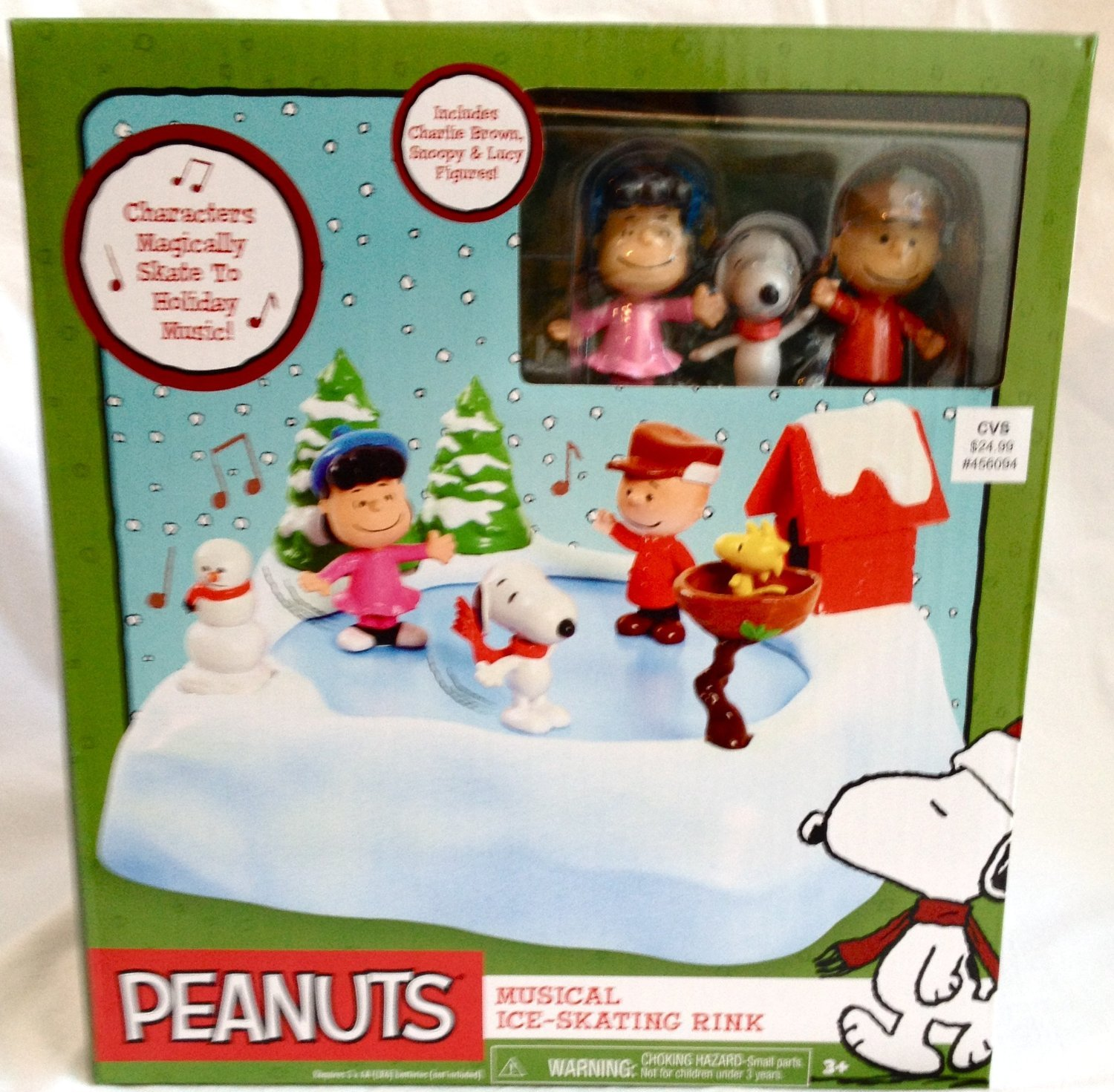 amazon com peanuts musical ice skating rink sports u0026 outdoors