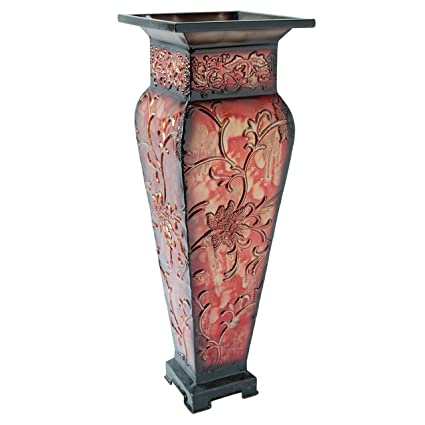 Amazon Hosleys 2125 Tall Embossed Floor Vase Red Ideal
