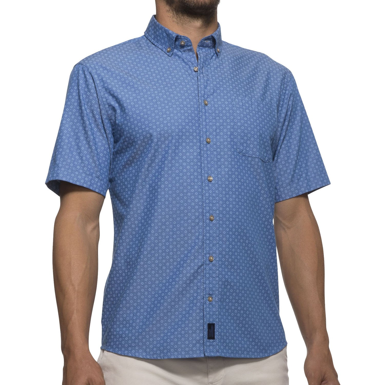 Johnnie-O Barclay Short Sleeve Camp Shirt - Blazer