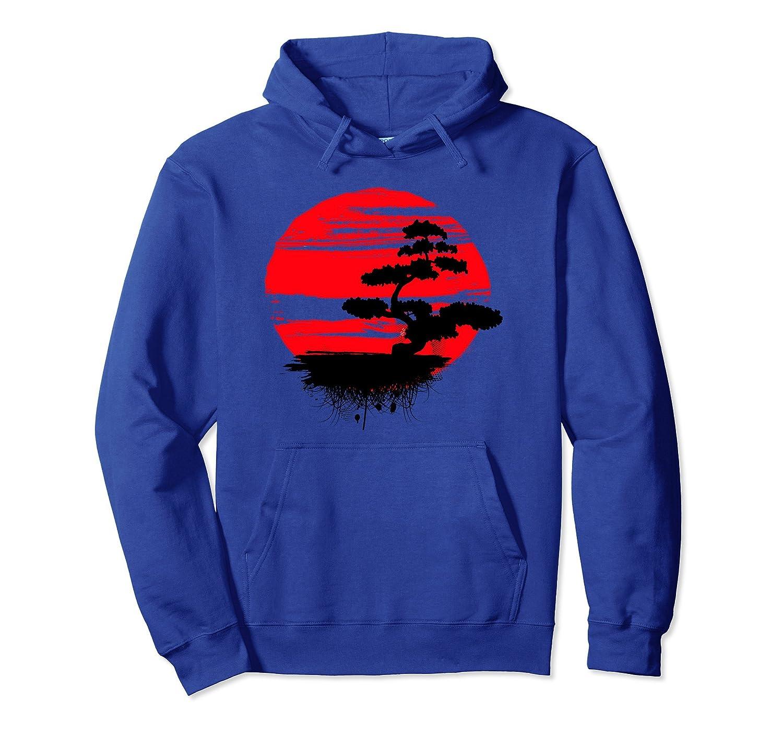 Japanese Bonsai Tree Red Sun Hoodie - Bonsai Tree Hoodie-ah my shirt one gift
