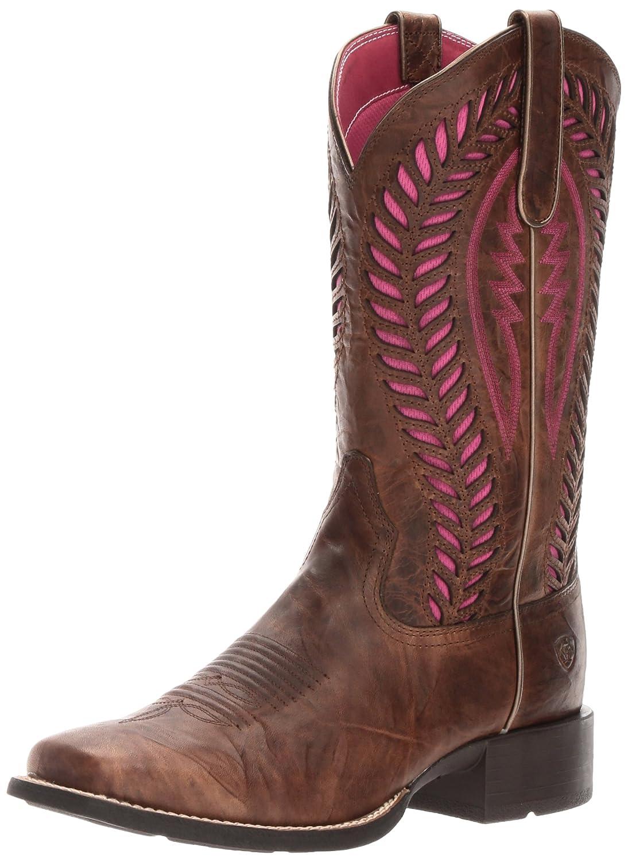 Ariat Women's Quickdraw Venttek Western Cowboy Boot B01L91LYI0 8 B(M) US|Barn Brown