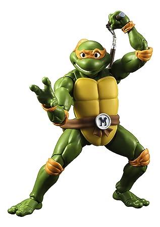 Las Tortugas Ninja-Las Michelangelo Figura, 15 cm (Bandai ...