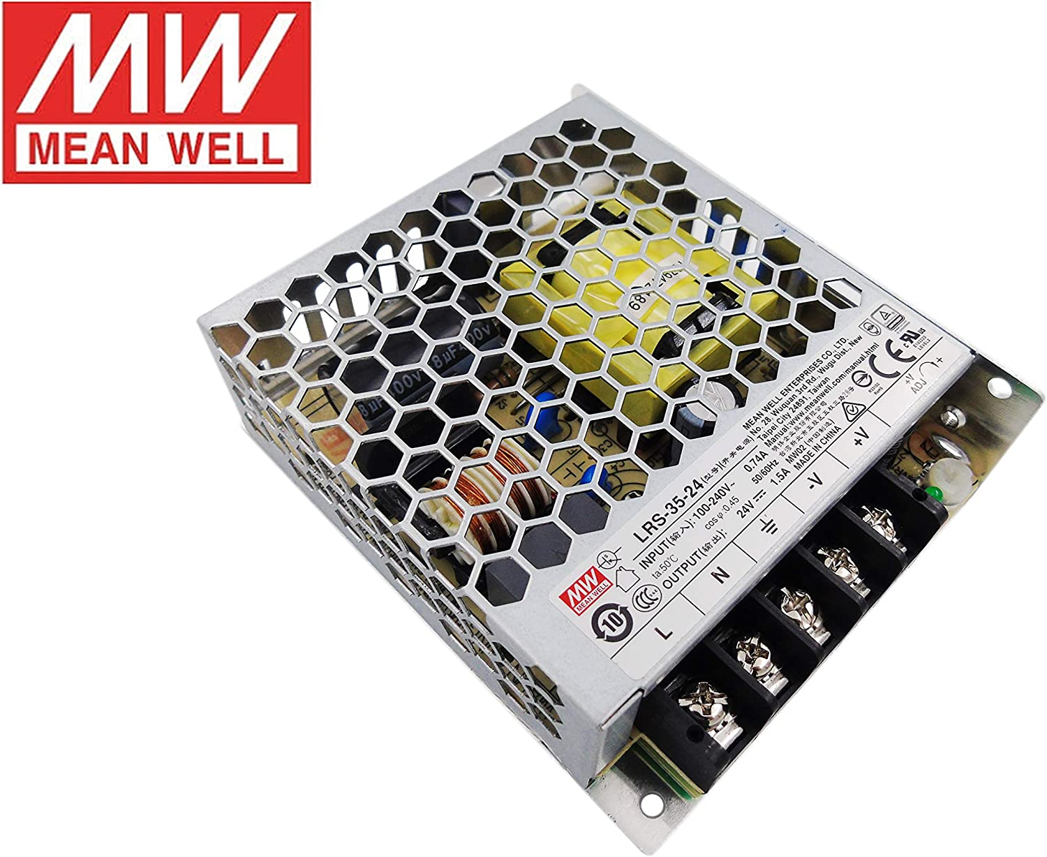 MeanWell Fuente de alimentacion 35W 24V 1.5A Enclosed LRS-35-24 Power Supply AC/DC