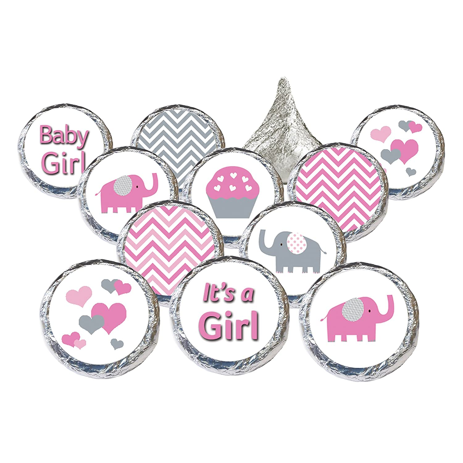 Amazon Pink and Gray Elephant Baby Girl Shower Favors