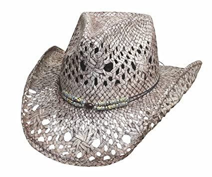 dca6200080d17b Montecarlo Bullhide Hats GONE CRAZY Toyo Straw Cowboy Western Hat (Small),  Gray