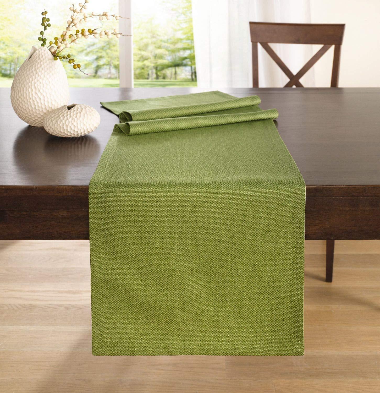 Camino de mesa verde 40 x 140 cm: Amazon.es: Hogar