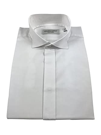 "c0cd4468a278 David Latimer Mens Formal Kilt Victorian Wing Collar Shirt White Double  Cuff (16"")"