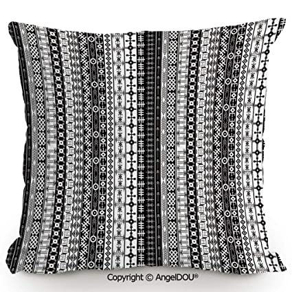 Amazon.com: AngelDOU Nice Cotton Linen Pillowcase with core ...