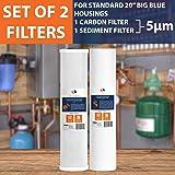 "Big Blue CTO Carbon Block & Sediment 20""x4.5"" Replacement Filter Cartridges Set"