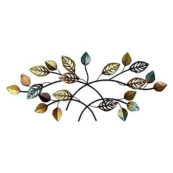 Amazon.com: Elements Metal Leaf Wall Décor: Home & Kitchen