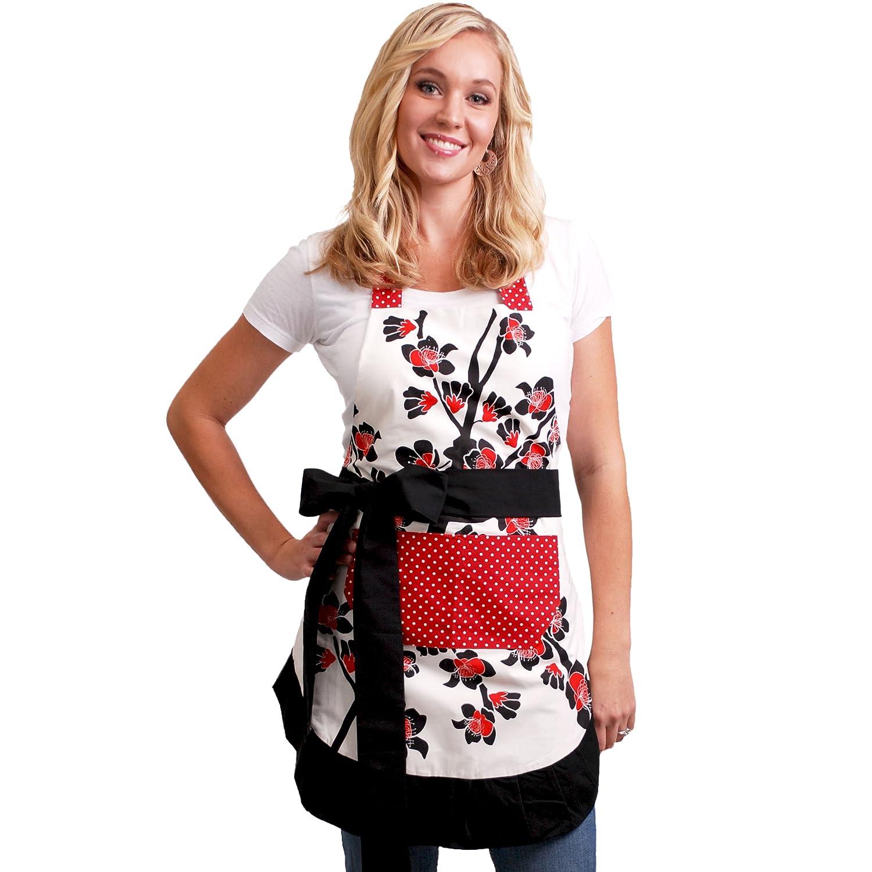 White apron amazon.ca - Flirty Aprons Women S Original Apron Cherry Blossom Amazon Ca Home Kitchen