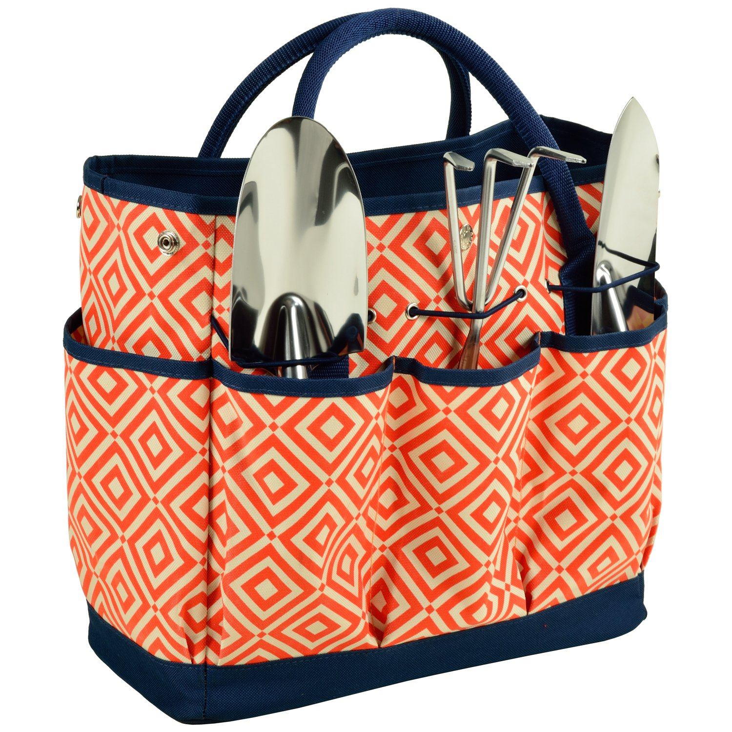 Picnic at Ascot Gardening Tote with 3 Stainless Steel Tools- Designed & Assembled in the USA by Picnic at Ascot