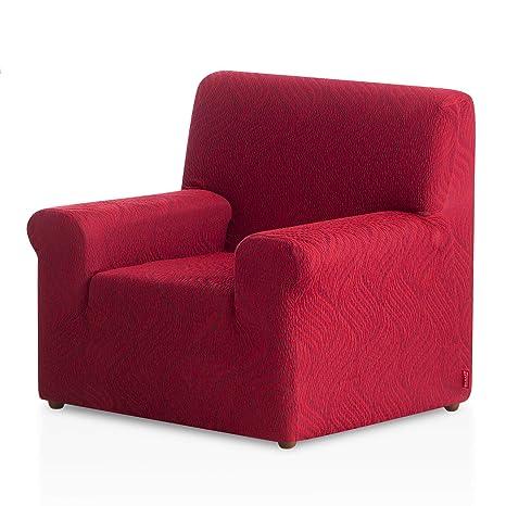 Bartali Funda de sillón elástica Aitana - Color Granate - Tamaño 1 Plaza (de 50 a 90 cm)