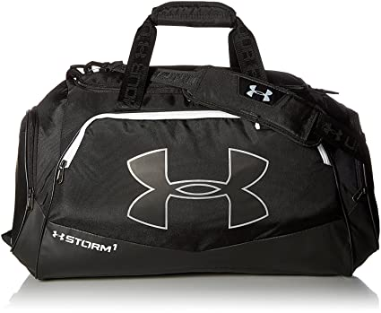 560553b3e9b Under Armour Storm Undeniable II Duffle, Black (001) White, One Size