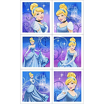 Disney Cinderella Sparkle Sticker Sheets (4 count) Party Accessory: Toys & Games
