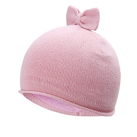 684f1920f4e Vivo-biniya Baby Hats Toddler Baby Girl Lovely Bowknot Knit Hats Baby Hats  6m-6Y
