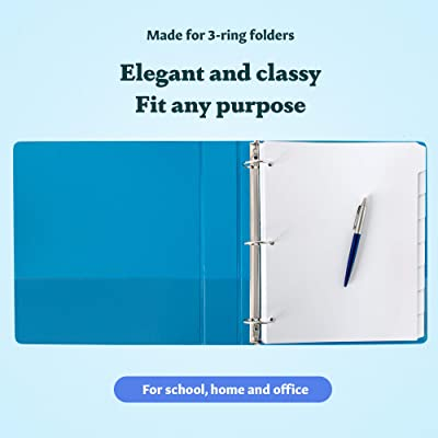 10 X A4 Index Dividers School Subjects Office File Ring Binder Easy Insert Card