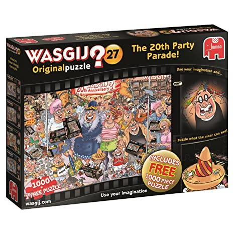 wasgij 27 original the 20th birthday parade 2 x 1000 piece jigsaw puzzles