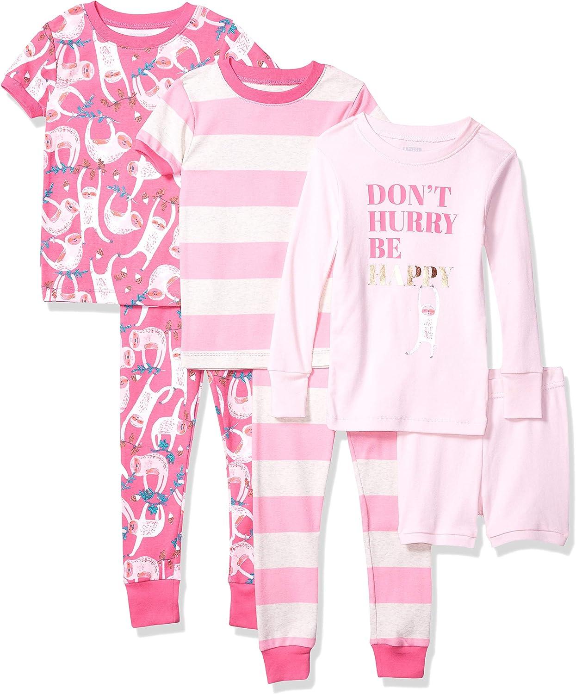 Brand Spotted Zebra Girls Snug-Fit Cotton Pajamas Sleepwear Sets