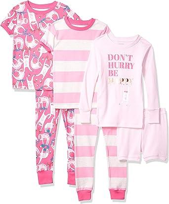 Spotted Zebra Baby-Girls Snug-fit Cotton Pajamas Sleepwear Sets Pajama Set