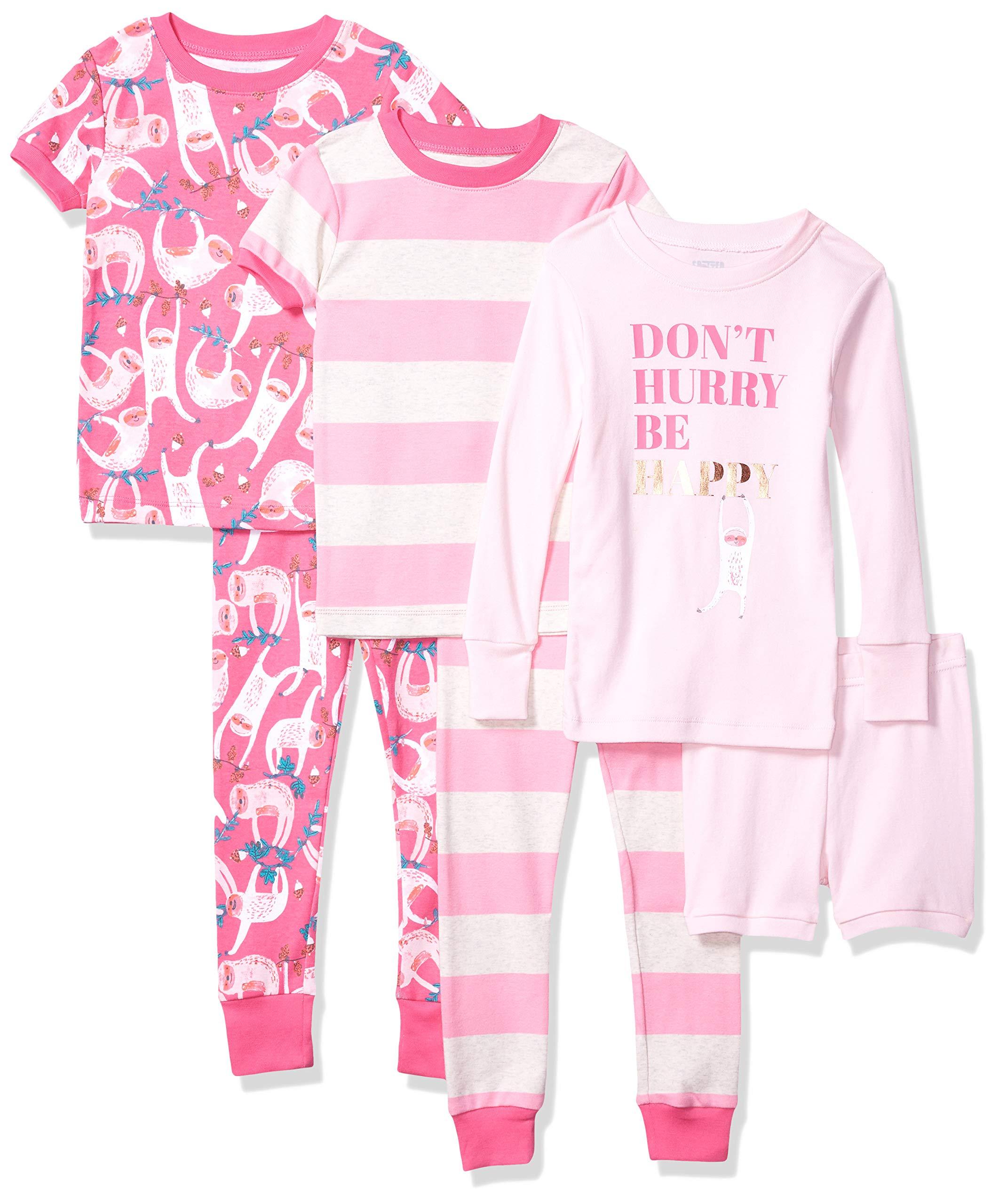 Amazon Brand – Spotted Zebra Boys' Snug-Fit Cotton Pajamas Sleepwear Sets