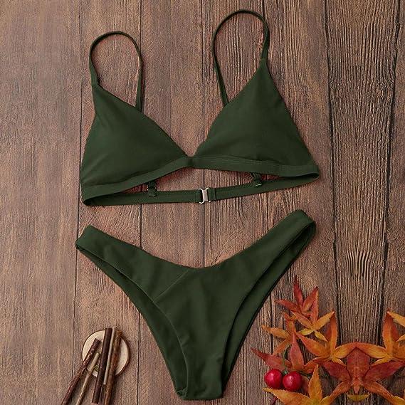 DEELIN Las Mujeres Lagartijas Espesante Sujetador Bikini Traje De BañO Bikini Traje De BañO Sexy: Amazon.es: Ropa y accesorios