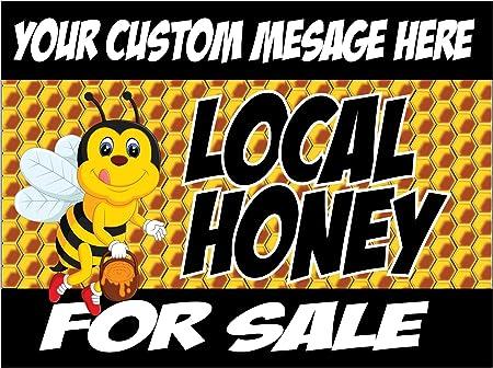 Amazon.com: Local Miel Cartel para la venta Yard con tu ...