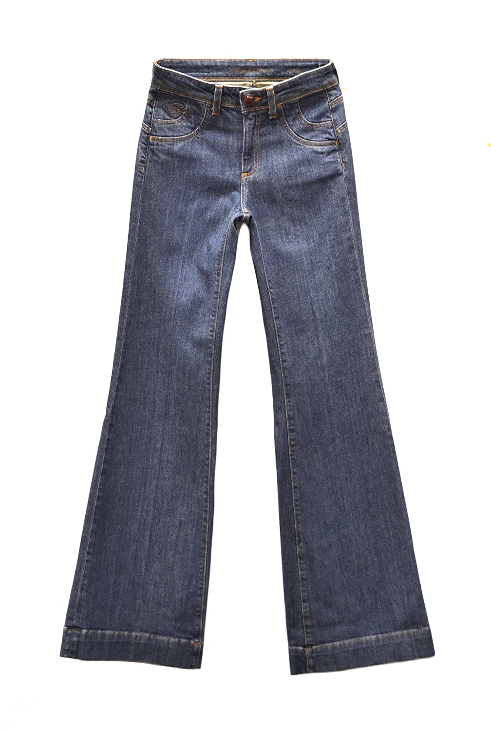 SMALL TOWN Womens Angel High Rise Wide Leg Jeans Dark Wash 160978TAG