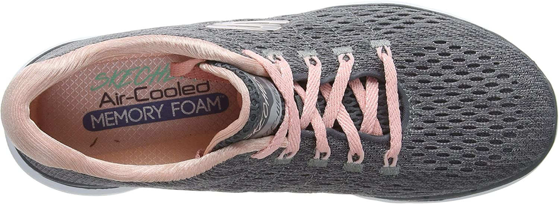 Skechers Women's Flex Appeal 3.0 Sneaker Grey (Charcoal Mesh/Pink Trim Ccpk)