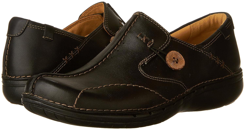 CLARKS Unstructured Women's Un.Loop Slip-On Shoe B000XEC9RU 9.5 N US|Black Leather