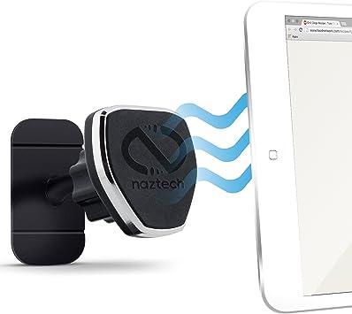 Ajustable Soporte para Dispositivo m/óvil Insta-Lock tecnolog/ía para iPhone y Android Smartphones Tablets Naztech magbuddy reposacabezas Universal Soporte magn/ético de Coche tel/éfonos m/óviles