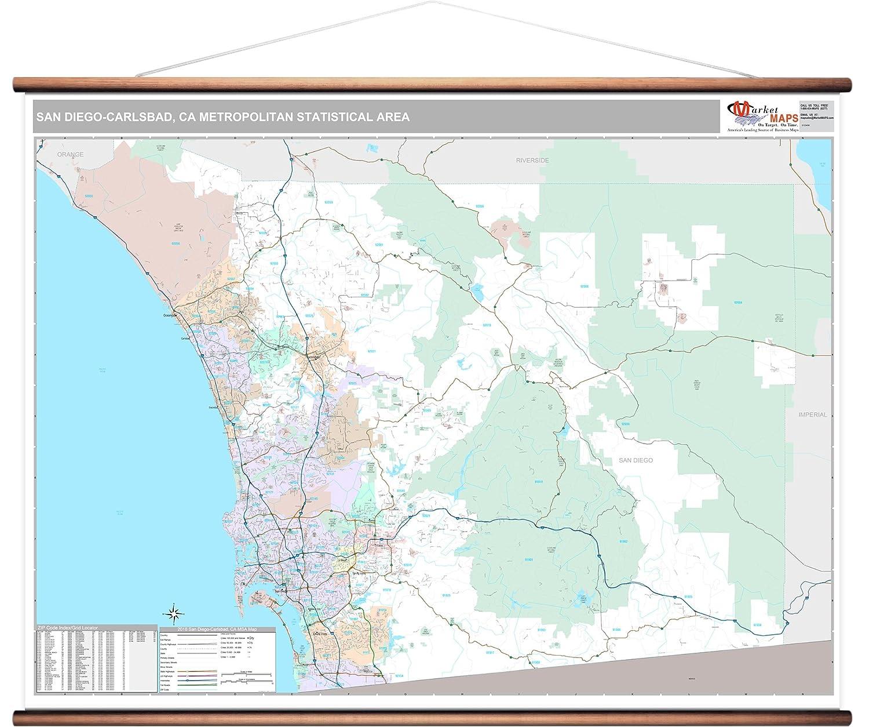 Amazon.com: MarketMAPS San go-Carlsbad, CA Metro Area Wall Map ... on