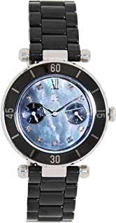GUESS Gc DIVER CHIC Diamond Dial Black Ceramic Timepiece