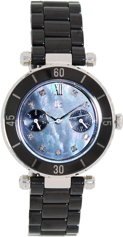 GUESS Gc DIVER CHIC Diamond Dial Black Ceramic Timepiece B002D8DVW6