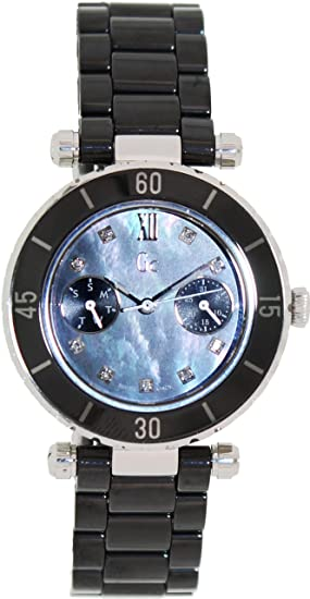 b6ae8b997 GC DIVER CHIC Diamond Dial Black Ceramic Ladies Watch G46003L2: Guess  Collection: Amazon.ca: Watches