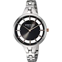 Kenneth Cole New York KC50544003 - Reloj de cuarzo para mujer (acero inoxidable), color plateado