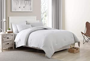 Morgan Home Fashions Jersey Knit Comforter Set- Soft Cozy and Lightweight Keeps You Warm and Comfortable All Year (Harbor Mist, Twin)