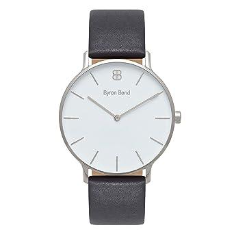 888bb0198 Byron Bond Mark 3 Men's Luxury Slim Watch (Baker - Silver Case with White  Dial
